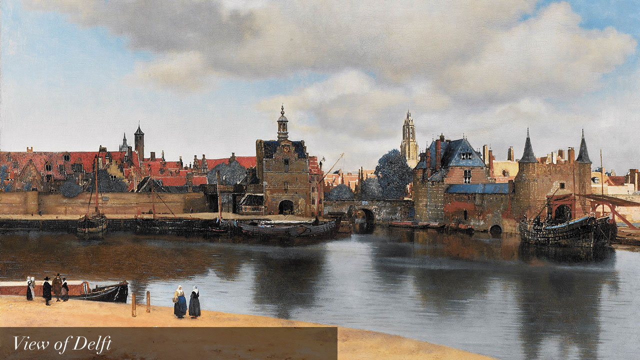 Vermeer view of delft_text_en
