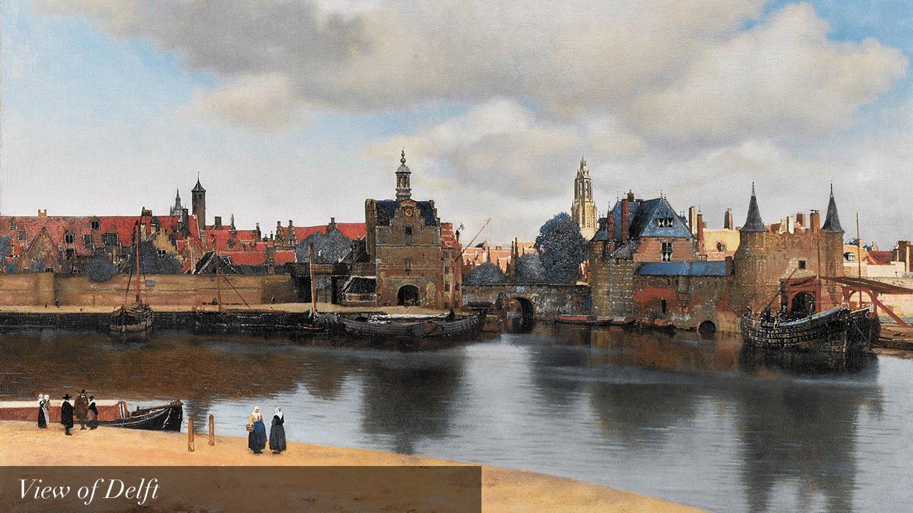 Vermeer view of delft_text_en