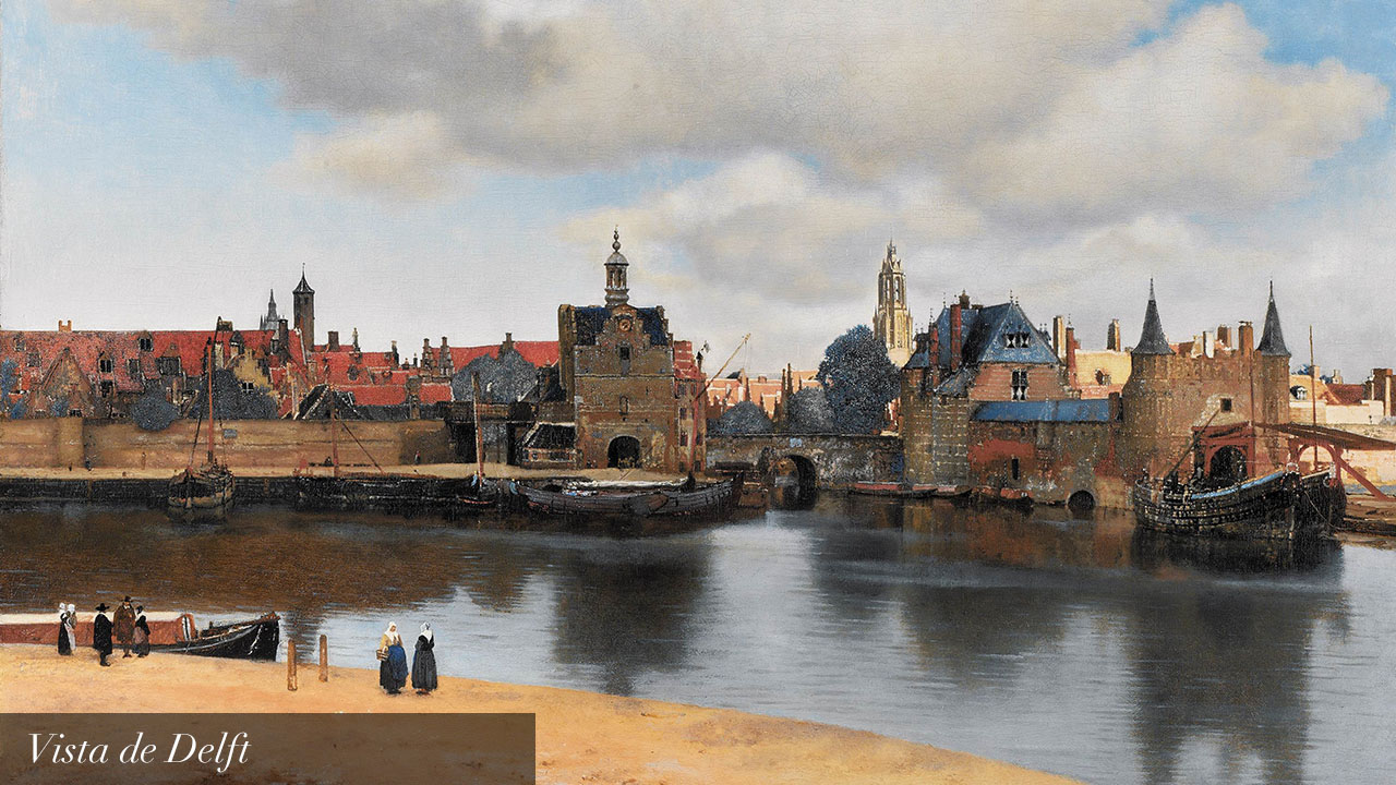 Vermeer view of delft_text_es